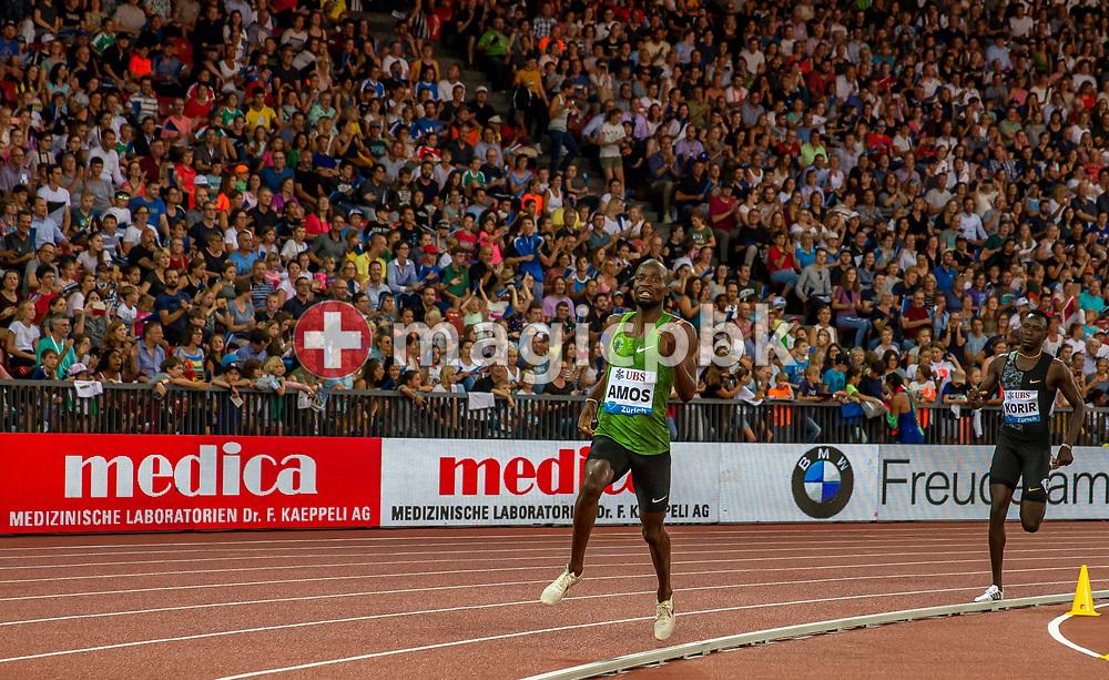 Nijel AMOS of Botswana competes in the Men's 800m during the Iaaf Diamond League meeting (Weltklasse Zuerich) at the Letzigrund Stadium in Zurich, Switzerland, Thursday, Aug. 29, 2019. (Photo by Patrick B. Kraemer / MAGICPBK)