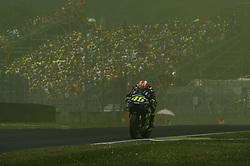 June 3, 2018 - Scarperia, Tuscany, Italy - Valentino Rossi on yellow smoke during race of  Italian Motogp at Mugello Circuit, Scarperia, Italy; (Credit Image: © Gaetano Piazzolla/Pacific Press via ZUMA Wire)