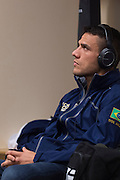 DALLAS, TX - MARCH 14:  Rafael Dos Anjos waits backstage before his fight against Anthony Pettis during UFC 185 at the American Airlines Center on March 14, 2015 in Dallas, Texas. (Photo by Cooper Neill/Zuffa LLC/Zuffa LLC via Getty Images) *** Local Caption *** Rafael Dos Anjos