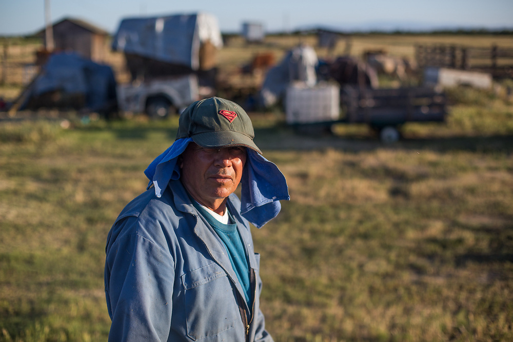 Juan manages ten head of cattle on land he rents near Hilmar, CA.   He has not had problems finding water or pasture during California's most severe drought in recent memory.