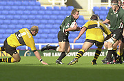Reading Berkshire, 29/09/02<br /> London Irish vs Wasps,<br /> Exiles Justin Bishop, running with ball during the ZURICH PREMIERSHIP RUGBY match at the, Madejski Stadium,  [Mandatory Credit: Peter Spurrier/Intersport Images]
