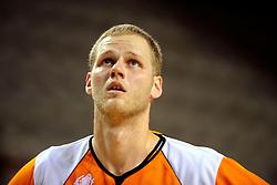 13-09-2008 BASKETBAL: NEDERLAND - IJSLAND: ALMERE<br /> De Nederlandse basketballers hebben hun tweede zege geboekt voor het ek van 2009 in de B-divisie. Oranje versloeg IJsland in almere met 84-68 / Remon van de Hare<br /> ©2008-WWW.FOTOHOOGENDOORN.NL