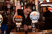 The Lamb. A traditional pub in central London run by Youngs. Britain's well known real ale brewer.