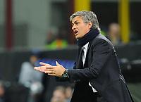 """Jose' Morinho allenatore dell'inter<br /> Milano 31/3/2010 Stadio """"Giuseppe Meazza""""<br /> Inter CSKA Mosca<br /> Champions League 2009/2010<br /> Foto Bibi Insidefoto"""