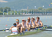 Chungju, South Korea.  GBR M8+ lane 3  move away from the start, on the second day of the 2013 FISA World Rowing Championships, Tangeum Lake International Regatta Course.14:09:11  Monday  26/08/2013 [Mandatory Credit. Peter Spurrier/Intersport Images]<br /> <br /> Crew, Bow, Dan RITCHIE, Tom RANSLEY, Alex GREGORY, Peter REED, Mo SHIBI, Andy TRIGGS HODGE, George NASH, Will SATCH and Cox Phelan HILL.