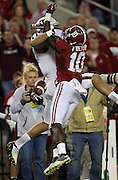 TUSCALOOSA, AL - NOVEMBER 10:  Cornerback John Fulton #10 of the Alabama Crimson Tide breaks up a pass to wide receiver Mike Evans #13 of the Texas A&M Aggies during the game at Bryant-Denny Stadium on November 10, 2012 in Tuscaloosa, Alabama.  (Photo by Mike Zarrilli/Getty Images)