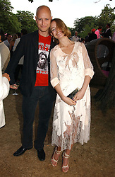 The HON.JUSTIN PORTMAN and NATALIA VODIANOVA at the Serpentine Gallery Summer party sponsored by Yves Saint Laurent held at the Serpentine Gallery, Kensington Gardens, London W2 on 11th July 2006.<br /><br />NON EXCLUSIVE - WORLD RIGHTS
