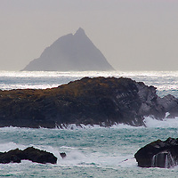 View on Skellig Michael from Valentia Island, County Kerry, Ireland / sk027 I love the Skelligs, ****** <br /> <br /> Visit & browse through my Photography & Art Gallery, located on the Wild Atlantic Way & Skellig Ring between Waterville and Ballinskelligs (Skellig Coast R567), only 3 minutes from the main Ring of Kerry road.<br /> https://goo.gl/maps/syg6bd3KQtw<br /> <br /> ******<br /> <br /> Contact: 085 7803273 from an Irish mobile phone or +353 85 7803273 from an international mobile phone