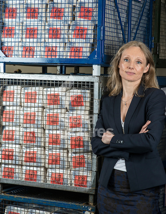 Director of Banknotes and Chief Cashier of the Bank of England, Victoria Cleland.<br /> Picture by Daniel Hambury/Stella Pictures Ltd +44 7813 022858<br /> 19/02/2015