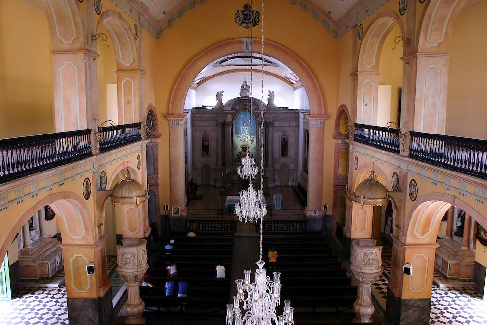 Manaus_AM, Brasil.<br /> <br /> Na foto o interior da Igreja Matriz Nossa Senhora da Conceicao em Manaus, Amazonas.<br /> <br /> Inside the Nossa Senhora da Conceicao Mother Church in Manaus, Amazonas.<br /> <br /> Foto: JOAO MARCOS ROSA / NITRO