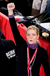 Spela Cerar of Krim during 3rd Main Round of Women Champions League handball match between RK Krim Mercator, Ljubljana and Larvik HK, Norway on February 19, 2010 in Arena Kodeljevo, Ljubljana, Slovenia. Larvik defeated Krim 34-30. (Photo by Vid Ponikvar / Sportida)