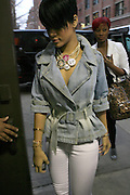 """Rihanna arrives at The Island Def Jam & Escada Moon Sparkle Present """" A Girls Night Out """" in support of Rihanna's Believe Foundation held at The Highline Ballroom on April 9, 2008"""