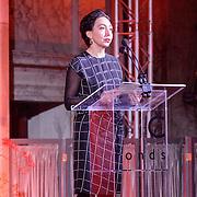 NLD/Amsterdam/20151202 - Koninklijke Familie bij uitreiking Prins Claus Prijs 2015, toespraak Joumana El Zein Khoury
