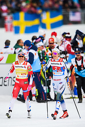 February 24, 2019 - Seefeld In Tirol, AUSTRIA - 190224 Ingvild Flugstad ¯stberg of Norway and Stina Nilsson of Sweden competes in women's team sprint final during the FIS Nordic World Ski Championships on February 24, 2019 in Seefeld in Tirol..Photo: Joel Marklund / BILDBYRN / kod JM / 87888 (Credit Image: © Joel Marklund/Bildbyran via ZUMA Press)