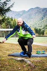 Andrej Hebar during COVID-19 home training, on April 20, 2020 in Mojstrana, Slovenia. Photo by Peter Podobnik / Sportida