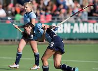 LAREN - Naomi van As maakt na een knieblessure haar rentree van Laren tijdens de hoofdklasse competitiewedstrijd  hockey tussen de vrouwen van Laren en HDM. COPYRIGHT KOEN SUYK