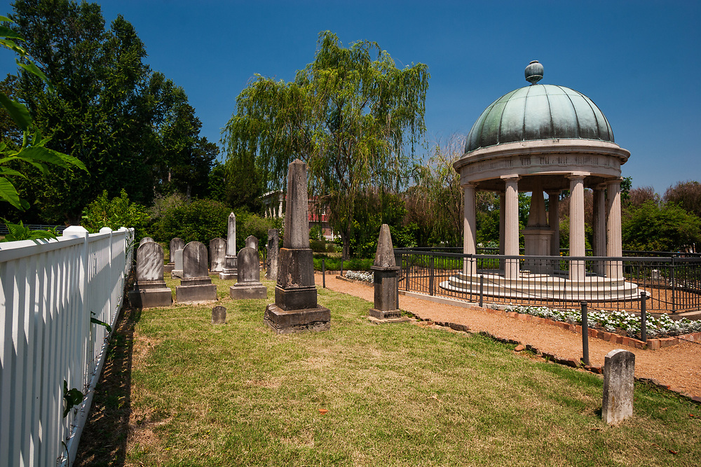 Andrew and Rachel Jackson's tomb occupies one corner of the garden of the Hermitage. The tomb was modeled after a Grecian monument for Rachel. Later Andrew Jackson was buried beneath the tomb as well and other family members were buried in an adjoining plot.