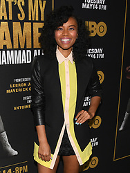May 8, 2019 - Los Angeles, California, USA - 08, May 2019 - Pasadena, California. Karen Civil attends 'What's My Name | Muhammad Ali' HBO Documentary Premiere at Regal Cinemas LA LIVE 14 in Los Angeles, California. (Credit Image: © Billy Bennight/ZUMA Wire)