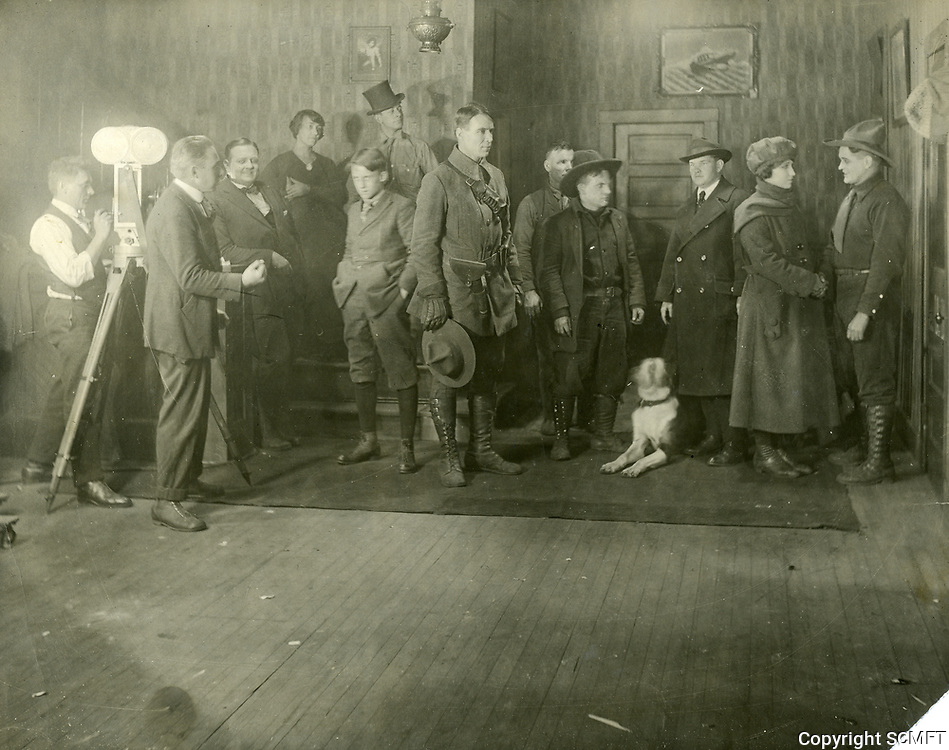 1915 William S Hart filming at Inceville Studios