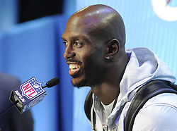 January 29, 2018 - Minneapolis, Minnesota, U.S - New England Patriots free safety DEVIN MCCOURTY answers questions at Super Bowl LII Opening Night at the Xcel Energy Center in St. Paul, Minnesota (Credit Image: © Craig Lassig via ZUMA Wire)