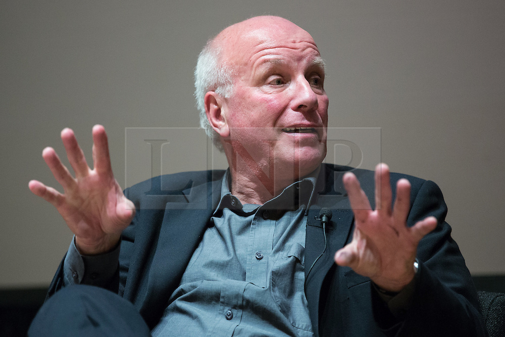 © Licensed to London News Pictures . 27/11/2014 . Manchester , UK . FA Chairman GREG DYKE speaking at a public forum on Tackling Discrimination in Football , at Manchester University . The debate , sponsored by race equality think tank , The Runnymede Trust , addressed issues of racism and homophobia in soccer . Photo credit : Joel Goodman/LNP