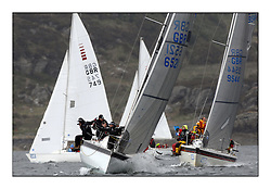 Brewin Dolphin Scottish Series 2011, Tarbert Loch Fyne - Yachting - Day 1 of the 4 day series..Class 5 Start with GBR6521 ,Misjif , Rodrick Angus ,CCC/FYC ,Hustler SJ30 and GBR9544 ,Mercenary ,Mark Bradshaw  ,Cove SC ,Impala..