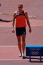 in action during Olympics Games Athletics day 12 on August 24, 2004 in Olympic Stadion Spyridon Louis, Athens.