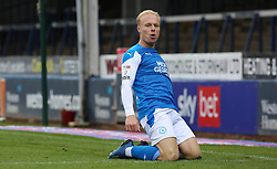 Ryan Broom of Peterborough United celebrates scoring his goal - Mandatory by-line: Joe Dent/JMP - 03/10/2020 - FOOTBALL - Weston Homes Stadium - Peterborough, England - Peterborough United v Swindon Town - Sky Bet League One