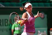 Roland Garros 2011. Paris, France. May 23rd 2011..Romanian player Irina-Camelia BEGU against Aravane REZAI