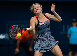February 19, 2019 - Dubai, ARAB EMIRATES - Katerina Siniakova of the Czech Republic in action during her second-round match at the 2019 Dubai Duty Free Tennis Championships WTA Premier 5 tennis tournament (Credit Image: © AFP7 via ZUMA Wire)