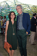 husband and wife architects: José Selgas and Lucía Cano , 15th Serpentine Pavilion designed by Spanish architects Selgascano, Serpentine's Summer party co-hosted with Christopher Kane. 15th Serpentine Pavilion designed by Spanish architects Selgascano. Kensington Gardens. London. 2 July 2015.