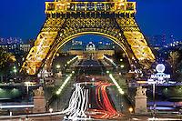 05/Febrero/2012 Francia. París.<br /> La Torre Eiffel fotografiada al atardecer desde el Trocadero.<br /> <br /> ©JOAN COSTA