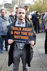 UK Unity 'take back control' pro-Brexit protest. Norwich Against Fascists organised a large counter-demonstration. Norwich, UK 10 November 2018