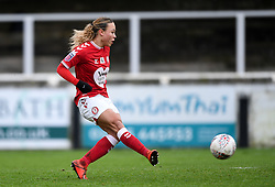 Ebony Salmon of Bristol City Women scores her sides second goal of the game - Mandatory by-line: Ryan Hiscott/JMP - 30/01/2021 - FOOTBALL - Twerton Park - Bath, England - Bristol City Women v Brighton and Hove Albion Women - FA Womens Super League 1