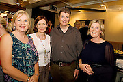 """19/7/2011. Mary Regan Ulster Bank, Caroline Miney, Ulster Bank with Paul and JAne Gilbane, Athenry in McSwiggans for the pre show reception of Propellors """"Comedy of Errors"""" by Shakspeare in the Galway Arts Festival, sponsored by Ulster Bank. Photo:Andrew Downes"""