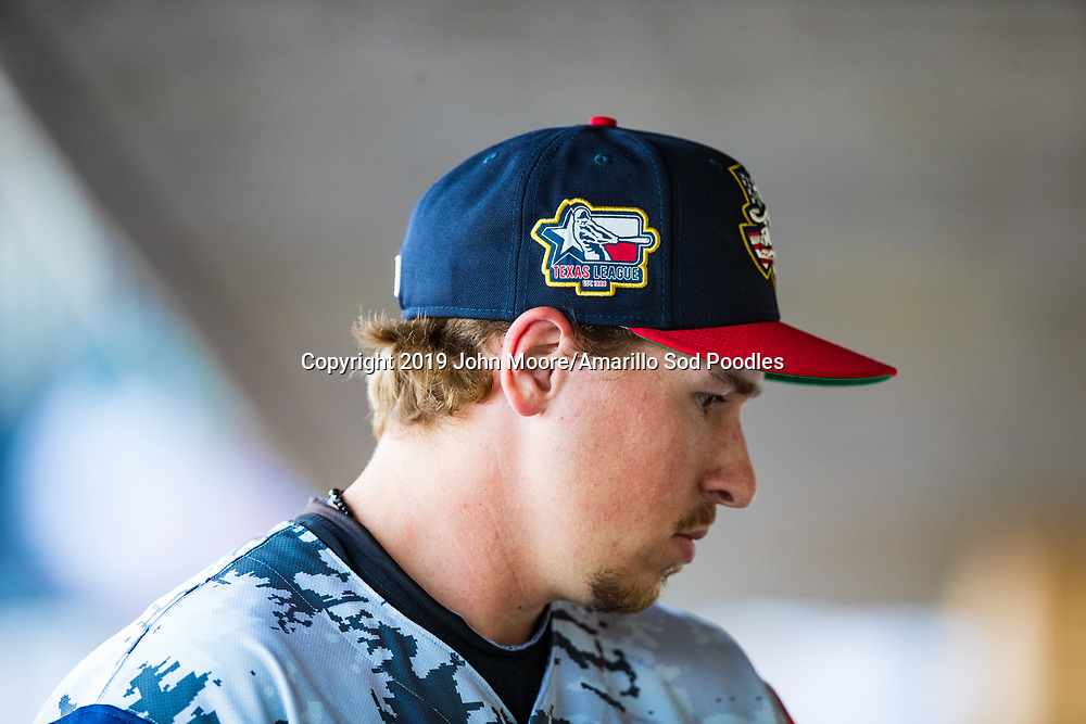 Amarillo Sod Poodles pitcher Lake Bachar (33) before the game against the Corpus Christi Hooks on Thursday, July 4, 2019, at HODGETOWN in Amarillo, Texas. [Photo by John Moore/Amarillo Sod Poodles]