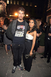Actor TOBY KEBBELL and RUZWANA BASHIR  at a party to celebrate the opening of the new home of Alfred Dunhill at Bourdon House, 2 Davies Street, London on 16th September 2008.
