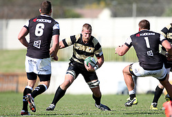 SP Wessels of Boland looks for the gap during the Currie Cup premier division match between the Boland Cavaliers and The Sharks  held at Boland Stadium, Wellington, South Africa on the 19th August 2016<br /> <br /> Photo by:   Shaun Roy/ Real Time Images