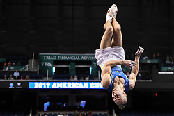 March 2, 2019 - Greensboro, North Carolina, US - PETRO PAKHNIUK from the Ukraine competes on the floor exercise at the Greensboro Coliseum in Greensboro, North Carolina. (Credit Image: © Amy Sanderson/ZUMA Wire)