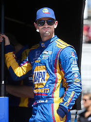 March 10, 2017 - St. Petersburg, Florida, U.S. - DIRK SHADD   |   Times  .IndyCar driver Alexander Rossi looks on from his pit stand before climbing into his car for the IndyCar practice session on the opening day of the Firestone Grand Prix of St. Petersburg. (Credit Image: © Dirk Shadd/Tampa Bay Times via ZUMA Wire)