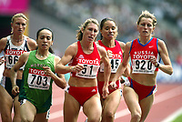 Friidrett, 23. august 2003, VM Paris,( World Championschip in Athletics),   Stephanie Graf (51), Svetlana Klyuka (920), Seltana Ait Hammou, Marokko