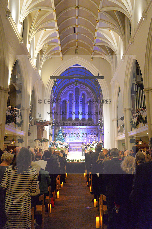 View at the charity Child Bereavement UK's 21st Anniversary Christmas Carol Concert held at Holy Trinity Brompton, London on 10th December 2015.