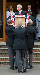 © licensed to London News Pictures. 18/05/2011. Tonbridge, UK. The coffin of heavyweight boxing legend Sir Henry Cooper entering Corpus Christi Church in Lyons Crescent, Tonbridge, Kent today (18/05/2011).  Please see special instructions for usage rates. Photo credit should read Ben Cawthra/LNP