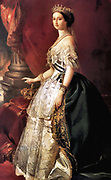 Franz Xavier Winterhalter (1805–1873)  Description German painter. The Empress Eugenie Date 1860(1860). The Empress Eugenie 5 May 1826 – 11 July 1920), known as Eugenie de Montijo (French pronunciation: [ d? montixo]), was the last Empress consort of the French from 1853 to 1871 as the wife of Napoleon III, Emperor of the French.