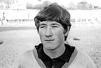 Jimmy Stevenson, footballer, Derry City, Londonderry, N Ireland, February 1967, 196602000083<br /> <br /> Copyright Image from Victor Patterson, 54 Dorchester Park, Belfast, UK, BT9 6RJ<br /> <br /> t: +44 28 9066 1296<br /> m: +44 7802 353836<br /> vm +44 20 8816 7153<br /> <br /> e1: victorpatterson@me.com<br /> e2: victorpatterson@gmail.com<br /> <br /> www.victorpatterson.com<br /> <br /> IMPORTANT: Please see my Terms and Conditions of Use at www.victorpatterson.com
