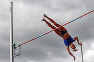 Katie Nageotte (USA), Women's Pole Vault, during the Muller Grand Prix at the Alexander Stadium, Birmingham, United Kingdom on 18 August 2019.
