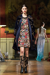 Model walks on the runway during YU fashion show during Select Fashion Awards at Musée Jacquemart-Andre during Spring/Summer 2018 ready to wear collection in Paris, France, October 01 2017. Photo by Nasser Berzane/ABACAPRESS.COM
