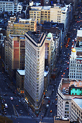 The Flat Iron Building seen from the top top The Empire State Building..Images of the city of New York, United States of America, taken between 20th-22nd November, 2001..©Michael Schofield.
