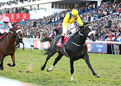 Durban 07-07-18 :Do it again, wins the 2018 Vodacom Durban July with his jocky Antony Marcus while Made to conqure claim the second position.<br /> <br /> PICTURE BONGANI MBATHA AFRICAN NEWS AGENCY (AMA)