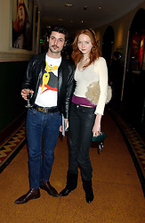 Model LILY COLE and BLUE LOGAN at the press night of Cirque Du Soleil's 'Alegria' held at the Royal Albert, London on 5th January 2006.<br /><br />NON EXCLUSIVE - WORLD RIGHTS